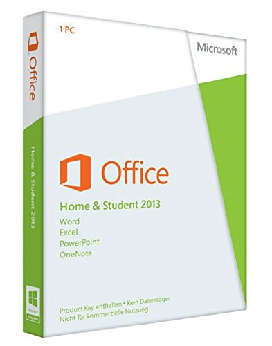 Microsoft Office Home and Student 2013 Deutsch (Produkt Key Card - Ohne...