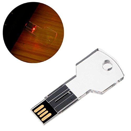 2 Gb Halskette (Schlüssel Form Flash Drive 64GB/32GB/16GB/8GB/4GB/2GB, Transer® USB 2.0Flash Speicher Laufwerk Daumen Stick Storage Digital u Festplatte Schlüssel Daten Speicher USB 2.0-Stick Orange 1 GB)