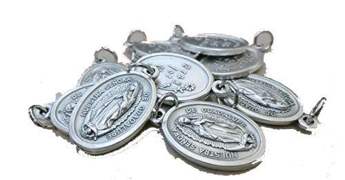 Virgen de Guadalupe – Medalla de México con anillo plateado, 10medallas