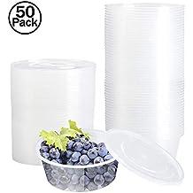 contenedor comida,envases plastico,envases desechables,50 x 300ml Contenedores de plástico Envases