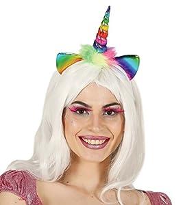 Fiestas Rudy Diadema Unicornio arcoíris,