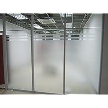 (0.9M X 2M)DuoFire No-adhesiva la Adsorción Electrostática Decorativo de Privacidad Película para Ventanas de Cristal Película de Vidrio Coloreado DS001
