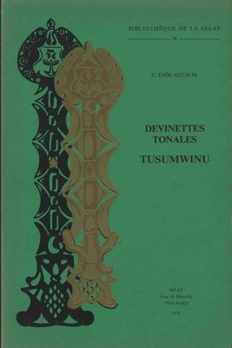 Devinettes Tonales Tusumwinu. B56 par C. Nzuji Madija