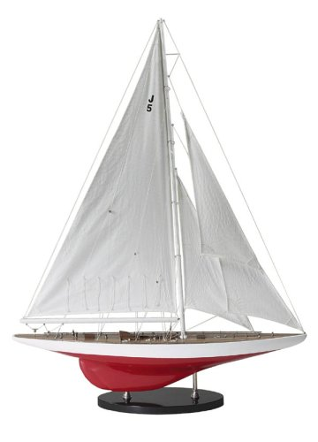 Authentic Models AS150 Segelschiffmodell - J-YACHT RANGER 1937 - handgearbeitet 69 x 14 x 89 cm -