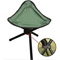 SMO 29*29*40 Portable Folding Tripod Garden Outdoor Camping Picnic Fishing Stool Oxford Cloth Steel Stands Large Size (Green)