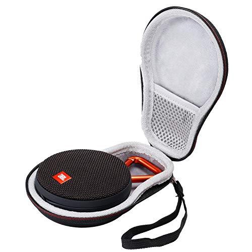 Flycoo Rigide Housse pour JBL Clip 2 / JBL Clip 3 Enceinte Portable sans Fil Bluetooth Speaker Enceinte Portable Etui Sac avec Poche de Filets Zipper Case Protection Antichoc