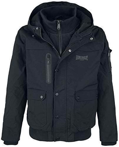 Lonsdale London Herren HILLBRAE Men Winterjacket, Black, L