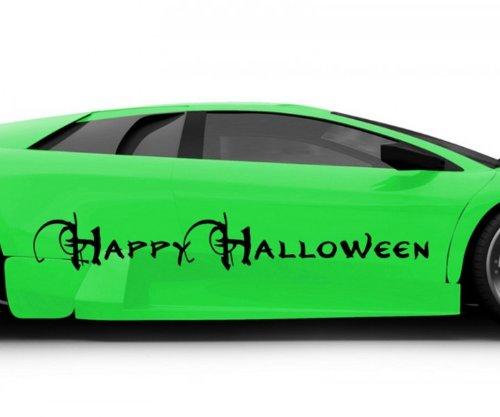 Halloween Text Feiertag Sticker Aufkleber Auto 5O070, Farbe:Flieder glanz;Breite vom Motiv:100cm ()