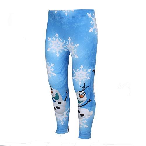 Disney Mädchen Frozen Olaf Legging, Blau Blu, 3-4 Jahre