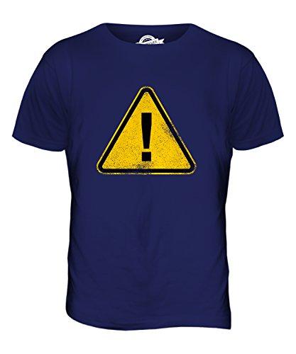 Candymix Allgemeines Warnzeichen Herren T Shirt, Größe 2X-Large, Farbe Navy Blau
