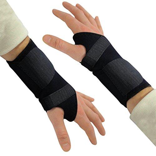 Jordanien Spitze (Angepasste Handgelenkbandage Handgelenkstütze von Kurtzy - 2 Stück Verstellbare Sport Bandagen - Unterstützt Arthritis, Daumen, Gewichtheben, Karpaltunnel, Sehnenentzündung für beide Hände)