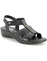 0e48e09c8a713 Imac 108600-420011 Cathryn Glitz Black Patent Womens Sandals