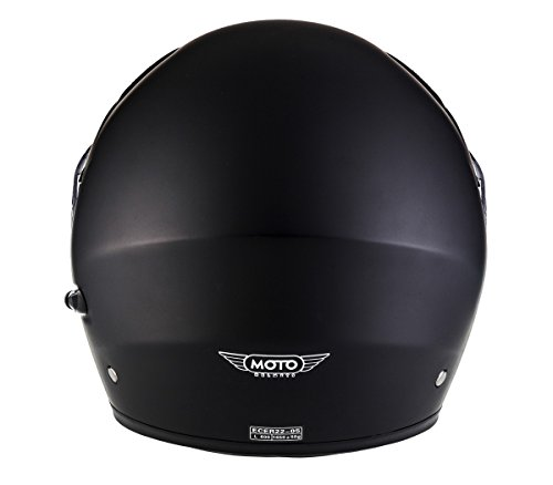 MOTO F19 Matt Black · Scooter-Helmet Cruiser Moto-Helmet Street Flip-Up Helmet Full-Face Helmet Modular-Helmet Motorcycle-Helmet Scooter-Helmet · ECE certified · incl. two Visors · incl. Cloth Bag · Black · M (57-58cm)