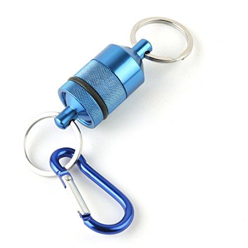 Andux Fliegenfischen magnetischen Nettoauflösung mit Lanyard Kescherhalter F-CLK01 blau