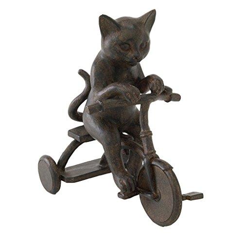 Zeit Concept Polyresin Liberty Cat Serie-Antik Finish-Home Decor Figuren Tricycle Figurine -