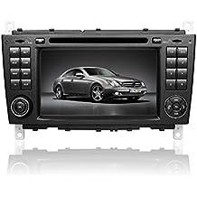 Gowe 2DIN autoradio navigatore GPS 17,8cm per Mercedes Benz Classe C W2032004–2007CLK W209con radio/BT/RDS/iPod/Canbus/Swc/ATV