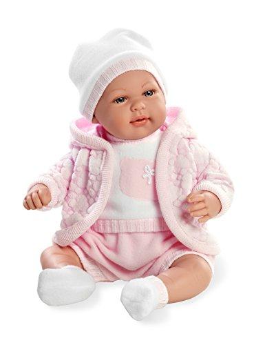 Arias - Muñeca bebé Mies, mecanismo de lloro magnético, color rosa, 45 cm (65145)