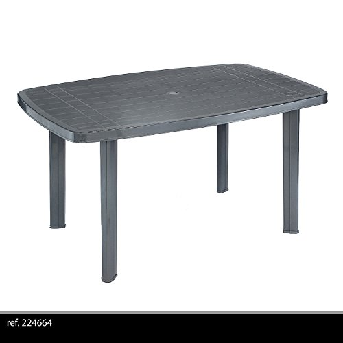 table de jardin faro anthracite 140 x 90 cm. Black Bedroom Furniture Sets. Home Design Ideas
