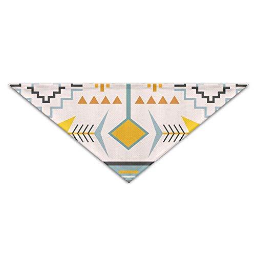 Gxdchfj Geometric Ethnic Patchwork Turban Triangle Scarf Bib Scarf Accessories Pet Cat Baby Puppy Saliva Dog Towel -
