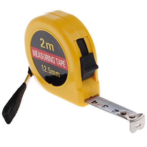 Brucelin Maßband einziehbar Mini Pocket 2 m Lineal Lineal Hersteller Haus Lineal Garage Basteln -