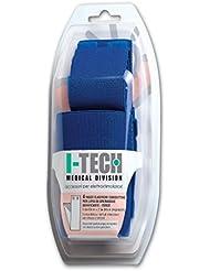 IACER I-TECH - 4 fajas elásticas conductivas para muslo