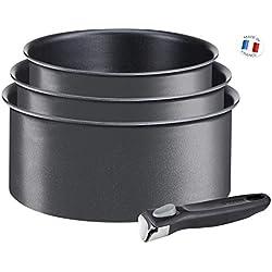 Tefal L6509503 Ingenio Expertise Lot de 3 Casseroles + 1 poignée Noir 16/18/20 cm