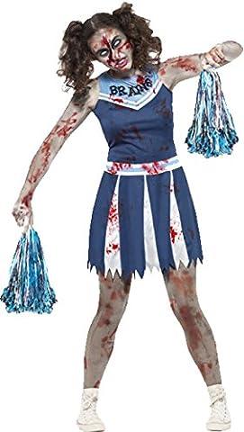 Halloween Cheerleader Costumes Adultes - Déguisement Femme Adulte Halloween Horreur Zombie Pom-Pom