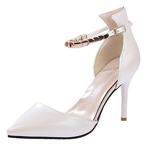 Minetom Donne Moda Cinturino Alla Caviglia Stilettos