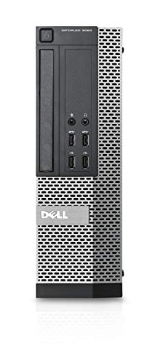 Dell 9020 SFF Desktop-PC (Intel Core i7-4790, 8GB RAM, 256GB SSD, AMD 1GB, Windows 10 Pro ES 64) - Schwarz (Generalüberholt)