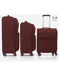 Venice Juego de maletas, 132 liters, Rojo (Rosso Scuro)