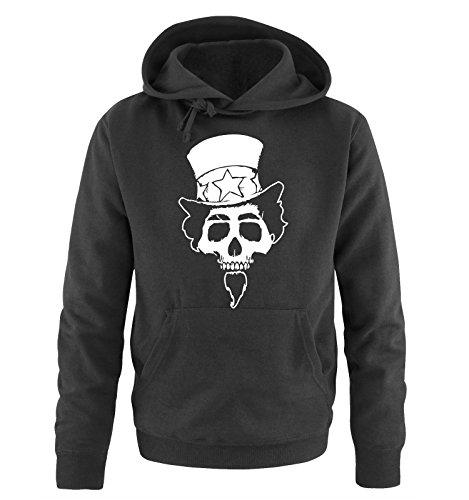 Comedy Shirts - AMERICAN SKULL - Uomo Hoodie cappuccio sweater - taglia S-XXL different colors nero / bianco
