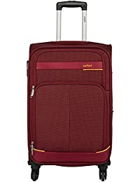 Safari Polyester 55 cms Red Softsided Carry-On (MAASAIMARA 4 Wheel Trolley 55 RED)