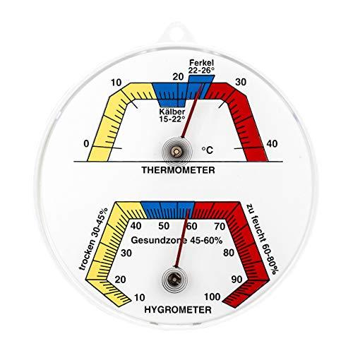 Lantelme 2346 Bimetall Stallthermometer und Hygrometer
