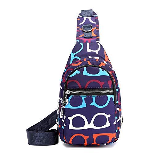FREEMLTrend Borsa pendolare da viaggio per esterno da tasca per torace da donna borsa impermeabile in nylon con tracolla a spalla di grande capacità