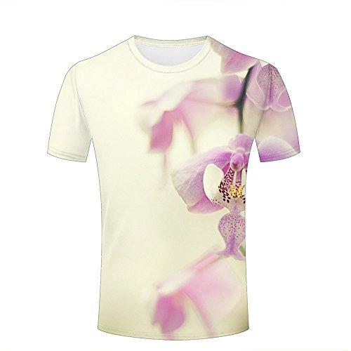 Mens 3D Printed T-Shirts Seductive Phalaenopsis Graphics Couple Tees A