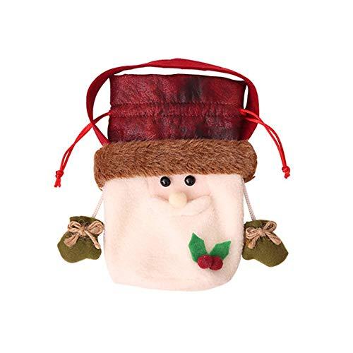 gjghfdhgjgu Weihnachtsapfel-Tasche Weihnachtsweihnachtsmann-Schneemann-Elch-Bärn-Geschenk-Apfel-Tasche Weihnachtstaschen-Süßigkeit-Geschenktasche für Festival Weihnachten deko