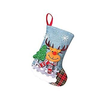ZODOF Decoración De Calcetines Navideños Calcetines De Navidad De Santa Claus Hecho A Mano Regalo De Calcetín De Navidad Calcetines De Navidad