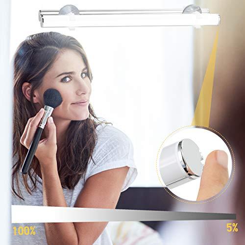 Kohree LED Spiegelleuchte Batterie Dimmbar Schminklict Make-up Licht Spiegellampe Kosmetiklampe Tageslichtlampe LED Leiste, Tageslichtweiß 6500k 6W für Badezimmer Schrank Unterwegs Outdoor Camping (Make-up-tisch Beleuchtung Mit)