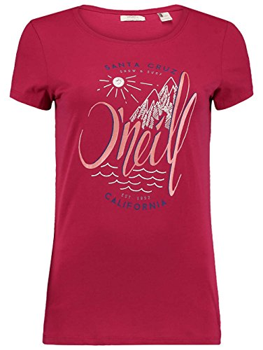 T-shirt da donna O' Neill Echo Lake logo t-shirt Sangria Red