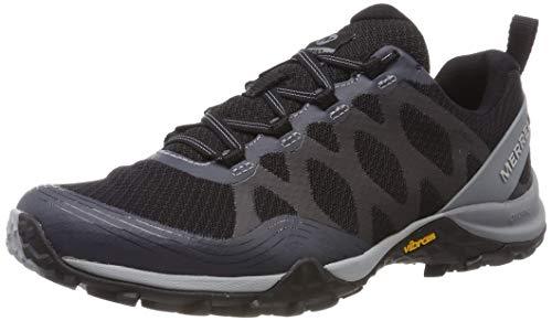Merrell Siren 3 Gore-Tex, Zapatillas de Senderismo para Mujer, Negro Black/Grey, 40.5 EU
