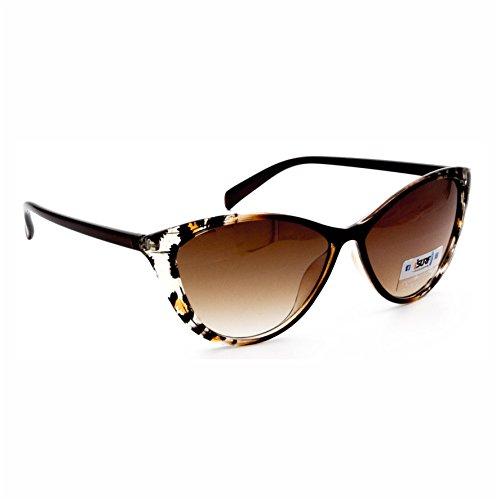 Isurf eyewear occhiali da sole marca modello canary sun vestibilita' piccola modello a gatta (marrone lente marrone)