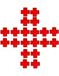 Creamlin 10 Paar Nippelabdeckung Secret Brustaufkleber Schwarzes reizvolles Krankenschwester-Kreuz-Klebernippel-Abdeckungs-wegwerfbare Pasteten