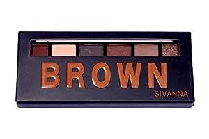 Sivanna Colors 6 Shades Eyeshadow (Brown)