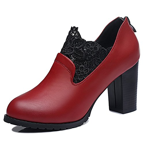 centenary-elegant-womens-artificial-leather-textile-round-mouth-antiskid-highheels