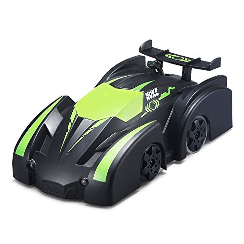 Rabing Remote Control Car, Stunt RC Car Home Vehicle Radio Control Mini Gravity Remote Control Car Kids Electric Toy RC Vehicle Stunt Car-Black (Green)