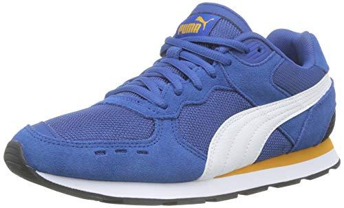 Puma Unisex-Kinder Vista Jr Sneaker, Galaxy Blue White-Golden Orange, 39 EU