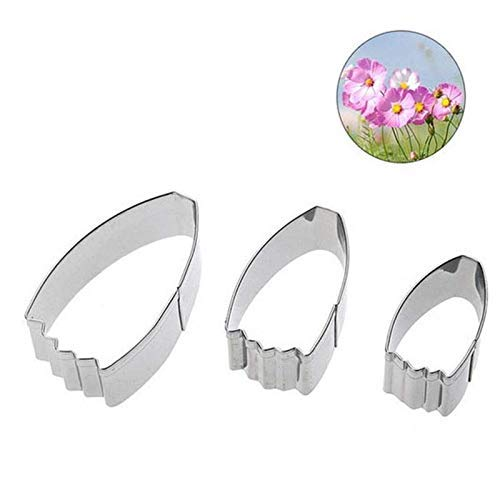Bobopai Biscuit Fondant Cookie Cosmos Flower Petals Shapes Stainless Steel Biscuit Mold Cake Decoration 3pcs (3.5cm* - Schwarzen Und Weißen Cookie Kostüm