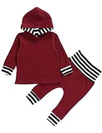 K-youth Ropa Bebe Niño Otoño Invierno 2018 Ofertas Infantil Recien Nacido Bebé Niño Sudaderas con Capucha Manga Larga Camisetas Blusas + Pantalones Largos Conjuntos De Ropa