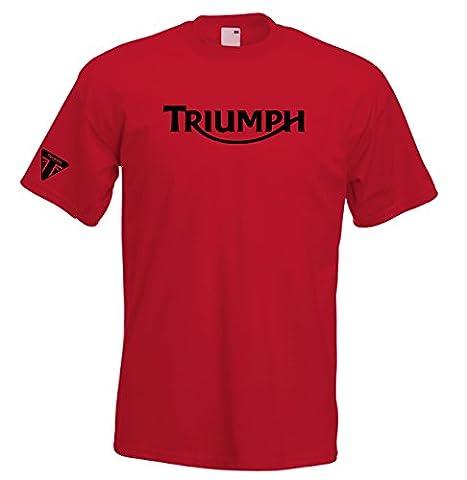 Juko Triumph T Shirt Motorcycle Motorbike 1335 Retro Top. Red, X-Large