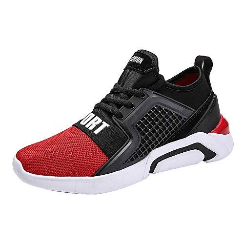 Lazzboy Damen 219154 Leicht Atmungsaktiv Sneaker (Rot,37.5)